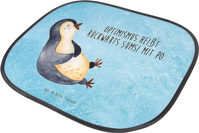Auto Sonnenschutz Pinguin umarmend PKW Panda R/ücksitz /& Mrs Mr Farbe Blau Pastell