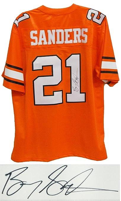 promo code b5e80 5b3af Barry Sanders Signed Jersey - Throwback Orange Premier ...