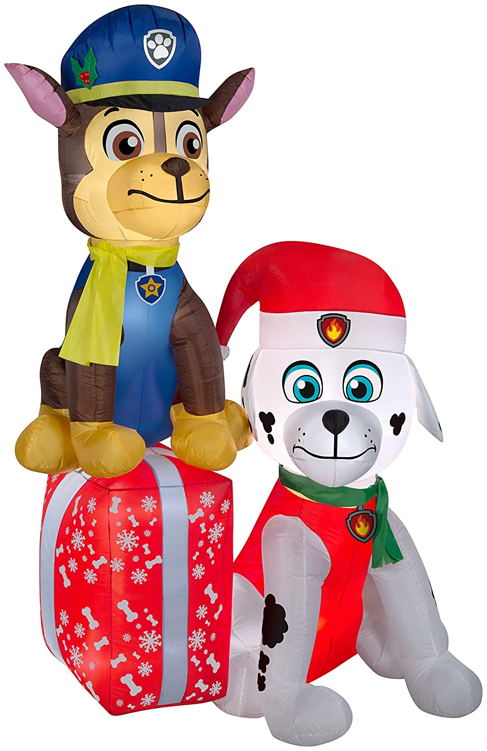 Gemmy 113036 Paw Patrol on Presents Airblown Christmas Inflatable 7 FT Tall