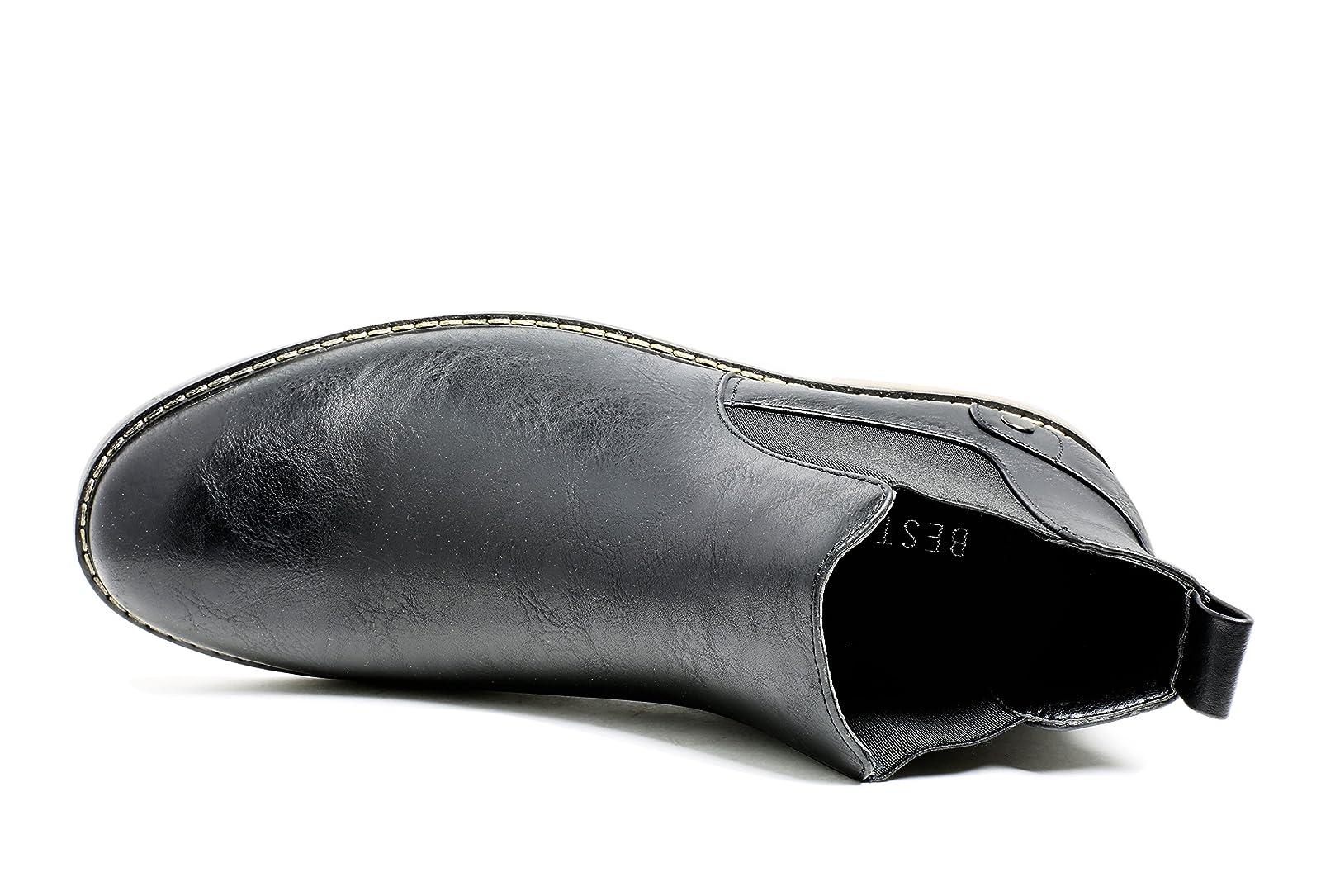 PartyEight Mens Ankle Casual Chelsea Boots Medium (D, M) US Men - 1