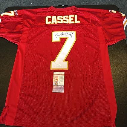 best sneakers cb97c 96350 Amazon.com: Matt Cassel Signed Authentic Kansas City Chiefs ...