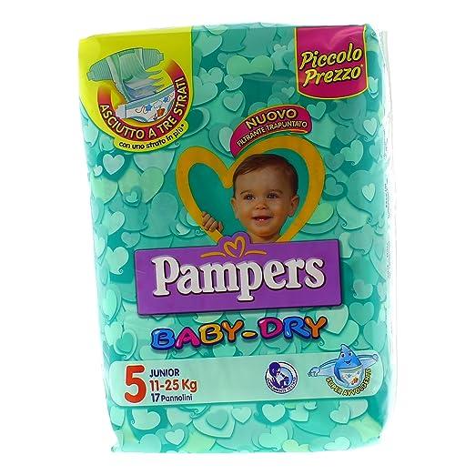 4 opinioni per Pampers Baby Dry Pannolini Junior Taglia 5 (11-25 kg), 17 Pannolini