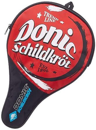 Donic-Schildkröt Trend Cover - Funda para Raqueta de Tenis de Mesa, Compartimiento para 3 Pelotas, Rojo/Verde/Azul: Amazon.es: Deportes y aire libre