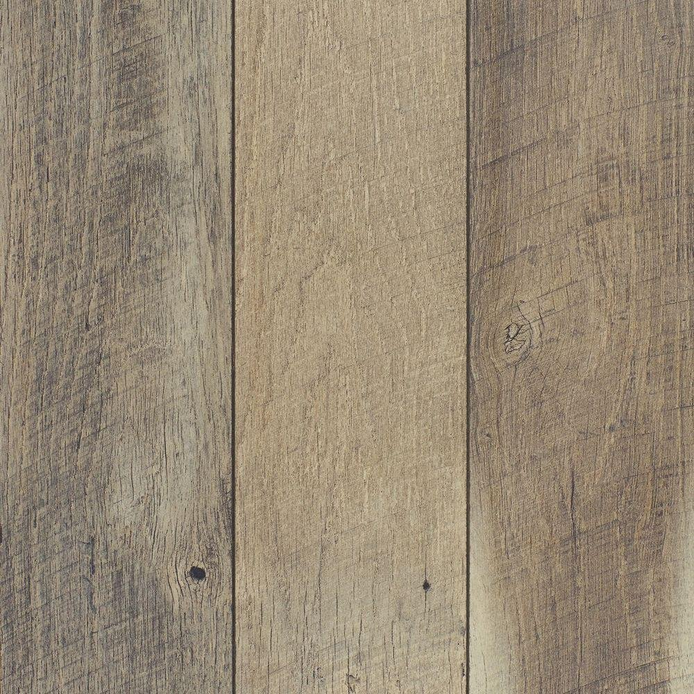 Grey oak Home Decorators Collection laminate flooring.