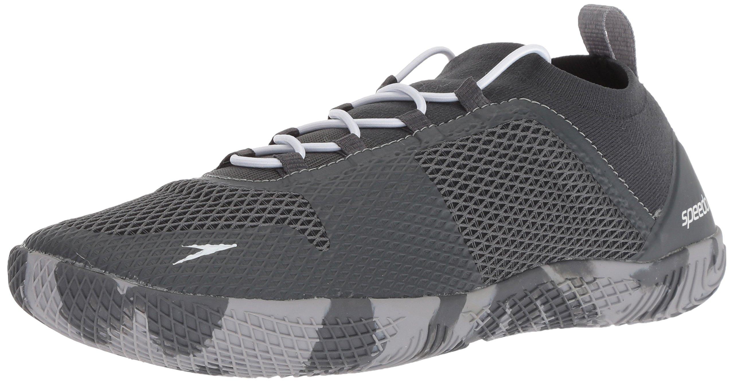 Speedo Men's Fathom AQ Fitness Water Shoes, Dark Heather Grey, 10H US