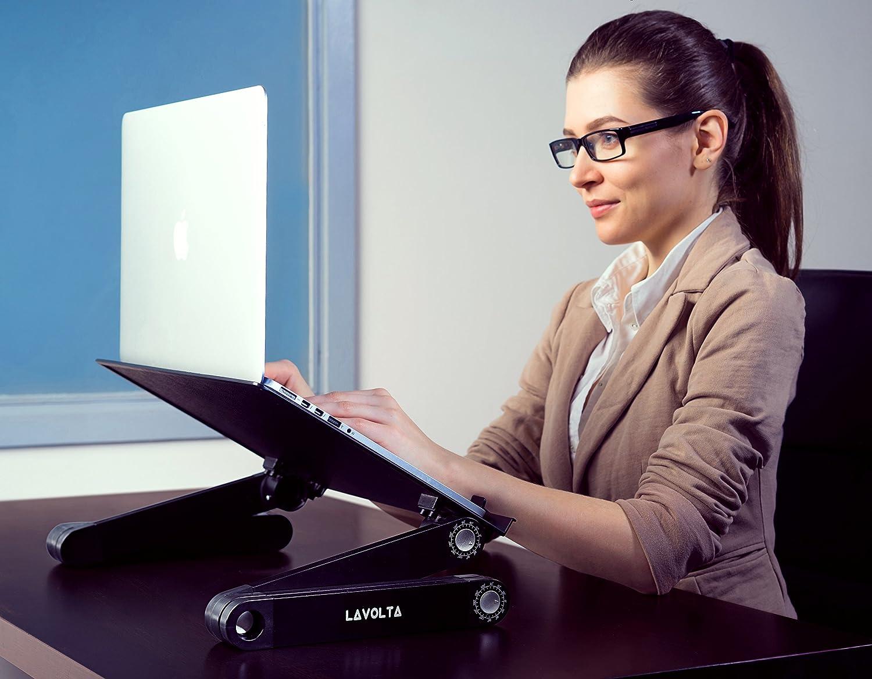 Lavolta LS-015YL Support Pliable pour Ordinateur Portable Jaune