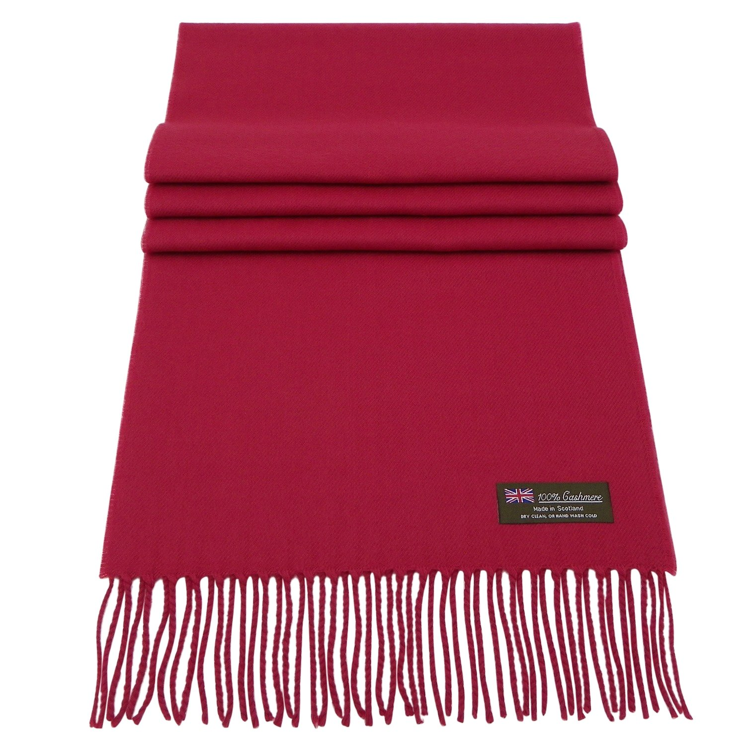 Rosemarie Collections 100% Cashmere Winter Scarf Made In Scotland (Berry Red) by Rosemarie Collections