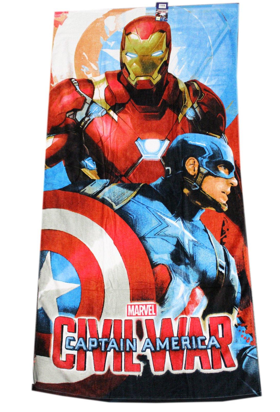 Captain America: Civil War Iron Man and Cap Beach/Bath Towel