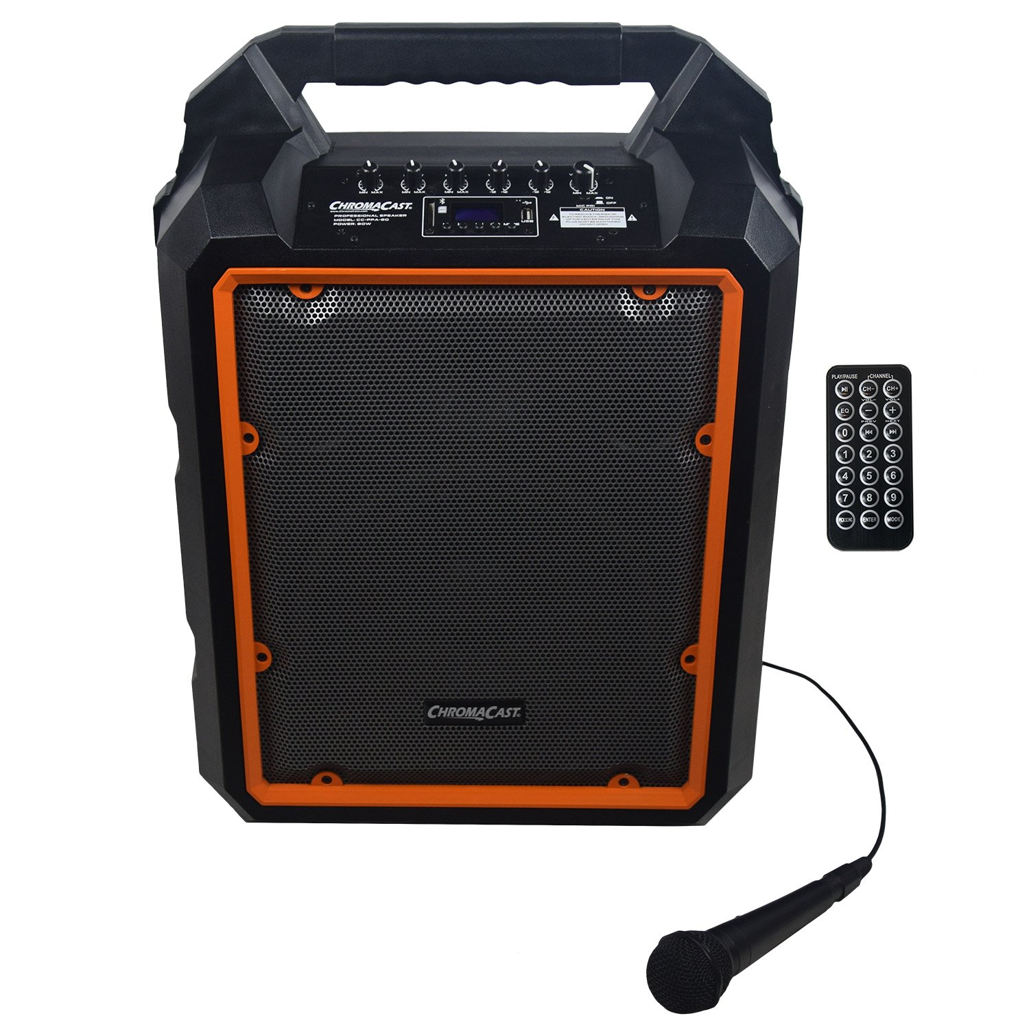 ChromaCast Portable 80 watt Rechargeable Bluetooth PA Speaker w/Microphone (CC-PPA-80)