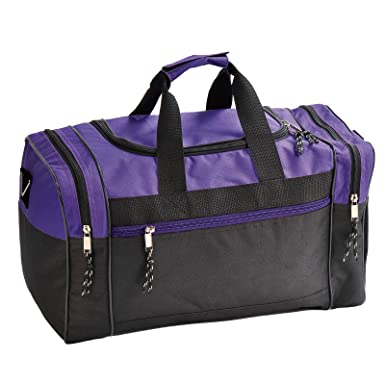 Amazon.com  Buddha Bless U Art Duffle Bag Duffel Travel Size Sports Gym Bags  Workout Blank Carry-on Luggage Purple Black  Clothing a07d01311a3