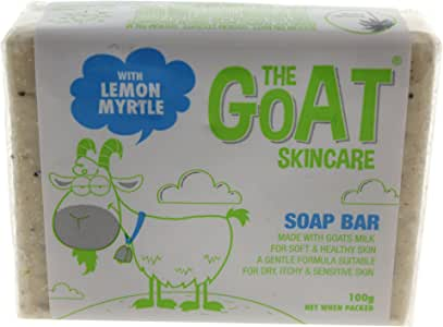 The Goat Skincare Soap Bar with Lemon Myrtle, 100g