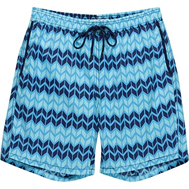 0b24f6b1b0 Mr. Swim Mens Zig Zag Printed Dale Swim Trunks at Amazon Men's ...