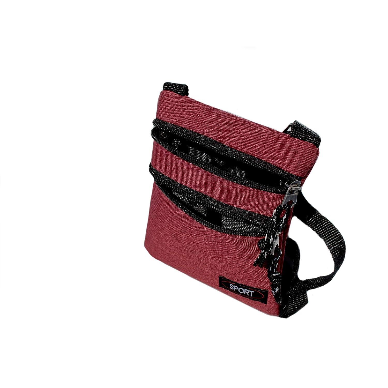 Kleine Brusttasche mit verstellbarem Trageriemen Kinder Brustbeutel mit Rei/ßverschl/üsse und Kordeln Umh/ängetasche in verschiedenen Farben erh/ältlich Sport Herren Halstasche