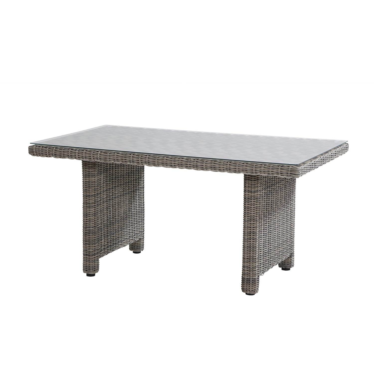 Aqua-Saar Dining Table Tom Cosy Geflecht Roca Esstisch 150 x 90 x 70 cm AS16798