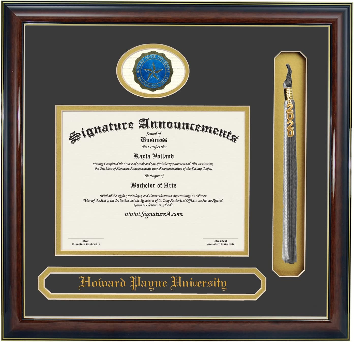 Signature Announcements New-Jersey-Institute-of-Technology Doctorate Sculpted Foil Seal /& Name Graduation Diploma Frame 20 x 20 Matte Mahogany