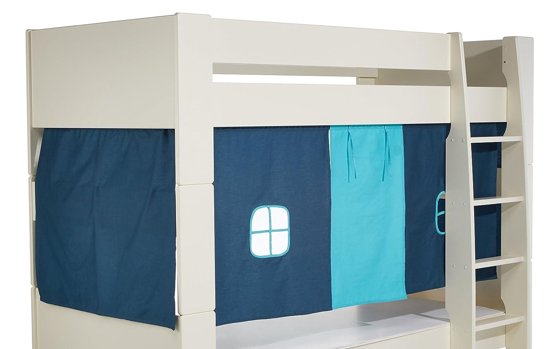 Steens For Kids Vorhangset für Kinderbett, Hochbett, 5 tlg, 176 x 75 x 91 cm (B H T), Baumwolle, blau