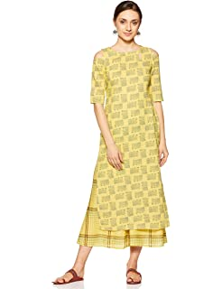 exquisite style search for newest quality and quantity assured Gerua Women's Straight Salwar Suit Set: Amazon.in: Clothing ...