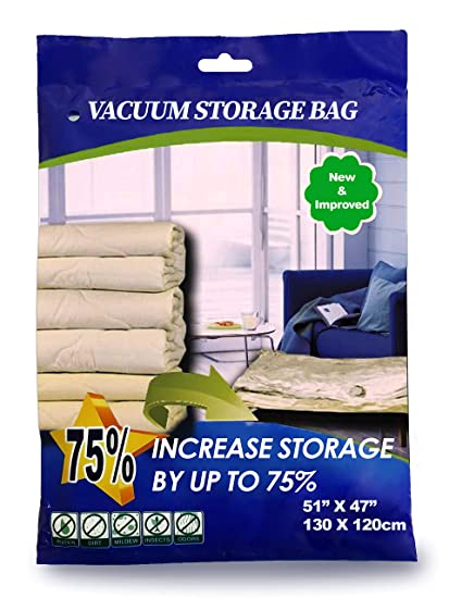 YAWPED 9 Pack Combo Premium Super Jumbo Vacuum Storage Space Saver Bags X5 (130X100cm) with Travel Bag X4 (60X40cm)