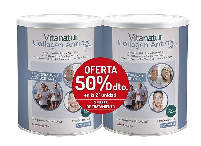 Vitanatur DUPLO COLLAGEN ANTIOX PLUS 2 Botes de 360g - Complemento ...