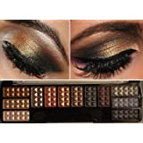 Eye Shadow Makeup Cosmetic 12 Color Shimmer Matte Eyeshadow Palette & brush Set No. 3 by Beauty Treats - 1 Assorted Set