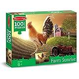Melissa & Doug Farm Sunrise Rooster at Dawn Jigsaw Puzzle (100 pcs)