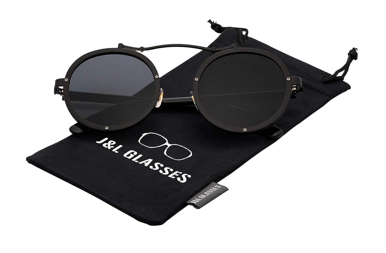 Steampunk Flip-up J/&L GLASSES Retro Gafas Para Hombres Mujeres Lente Negro Gafas Gafas de Sol Unisex Adulto