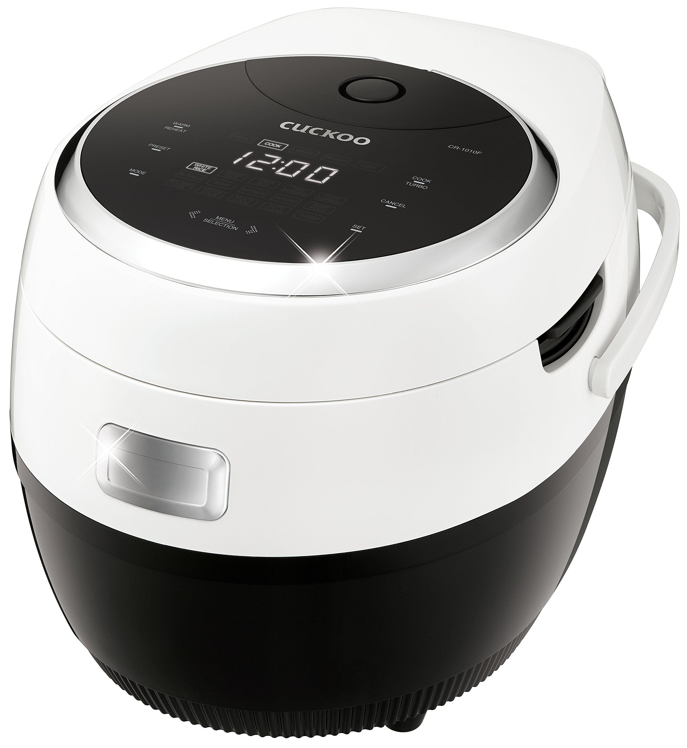 Cuckoo Electric Heating Rice Cooker CR-1010F, Mid Size, White and Black by Cuckoo