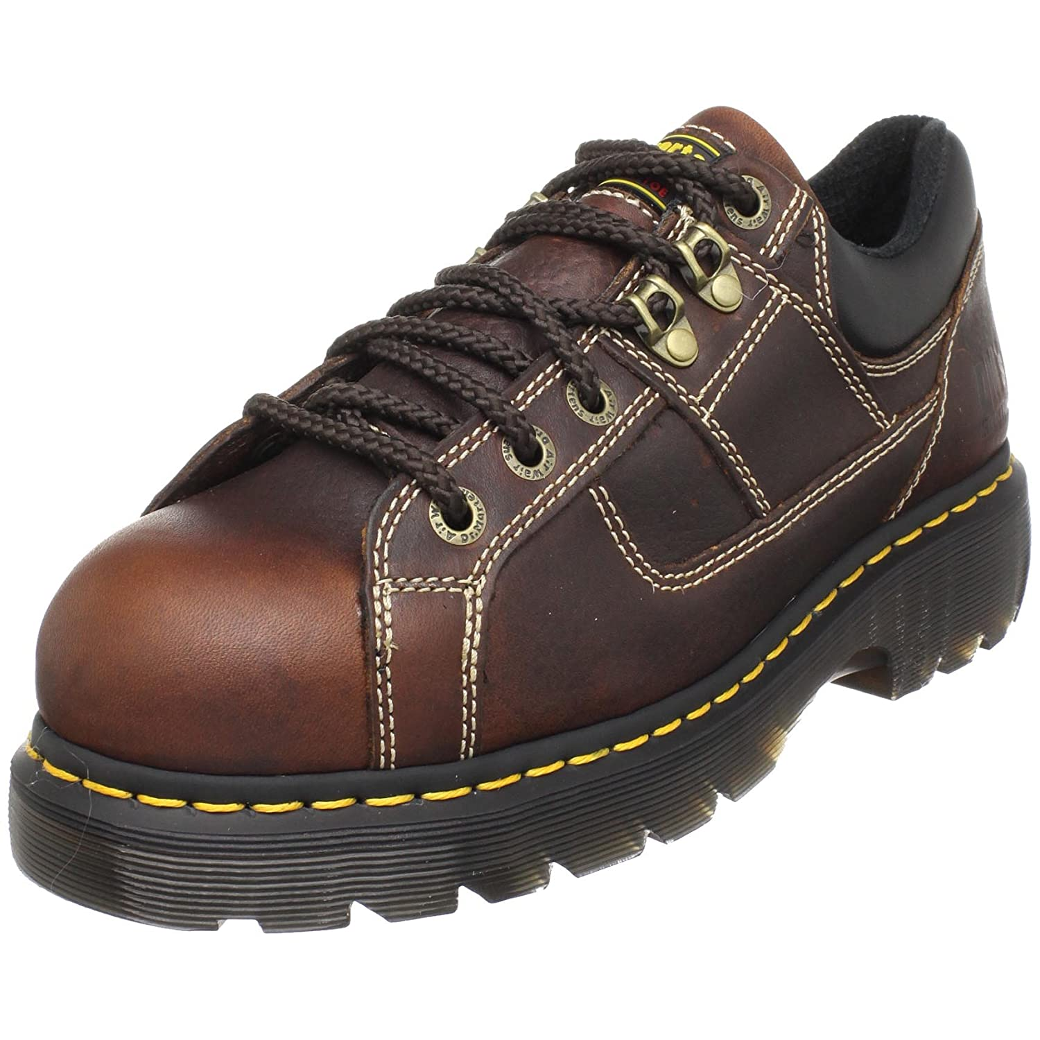Dr. Martens Gunby Steel Toe Shoe B001J4BRLC 6 UK/8 M US Women's/7 M US Men's|Teak
