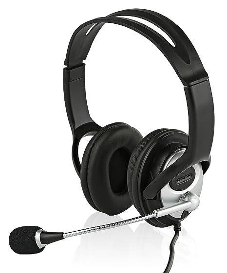 amazon com sonitum usb headset for computer chat skype webinar