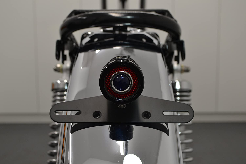 Moto LED Arr/êter Feu Arri/ère Projet R/étro Vintage Personnalis/é Caf/é Coureur Noir Brillant