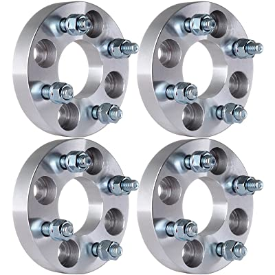 "ECCPP 4x100mm Wheel Spacers 4 Lug 1"" (25mm) 4x100 to 4x100 60.1mm 4X Fit for Honda Fit Honda Accord Honda Civic Honda CRX with 12x1.5 Studs: Automotive"