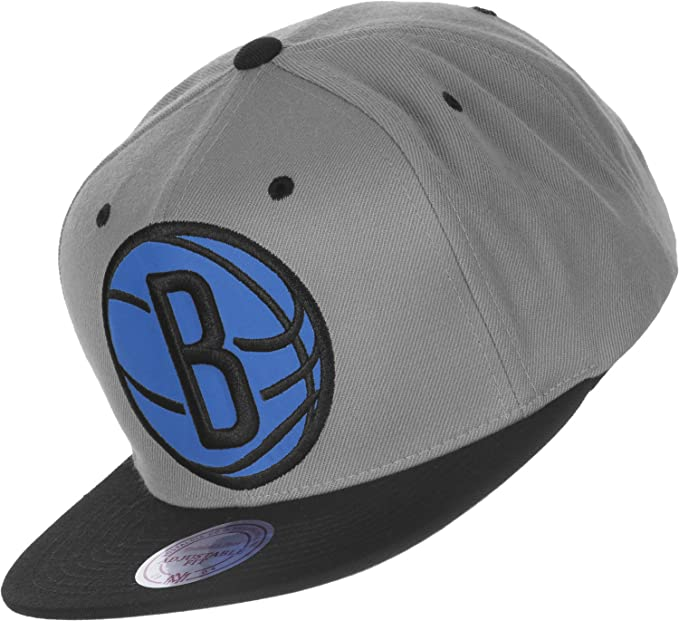Gorra Mitchell   Ness  NBA Brooklyn Nets GR BK  Amazon.es  Ropa y ... 037666605df