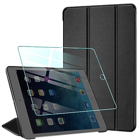 AROYI Funda iPad Mini 1 /Funda iPad Mini 2 /Funda iPad Mini 3 + Protector Pantalla, Carcasa Silicona Smart Cover con Soporte Función Auto-Sueño/Estela ...
