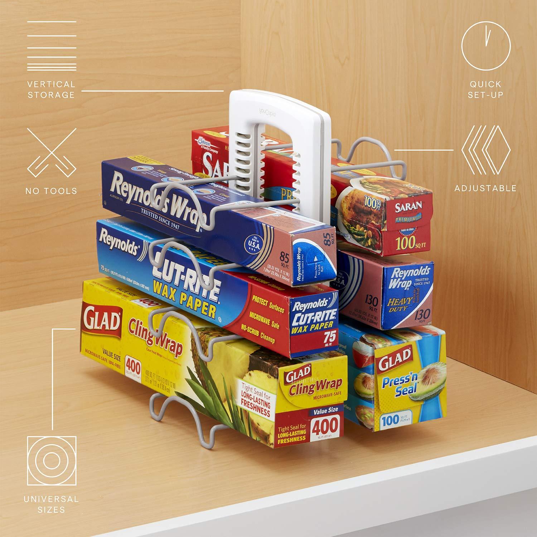 YouCopia StoreMore Adjustable WrapStand Kitchen Wrap Organizer, White