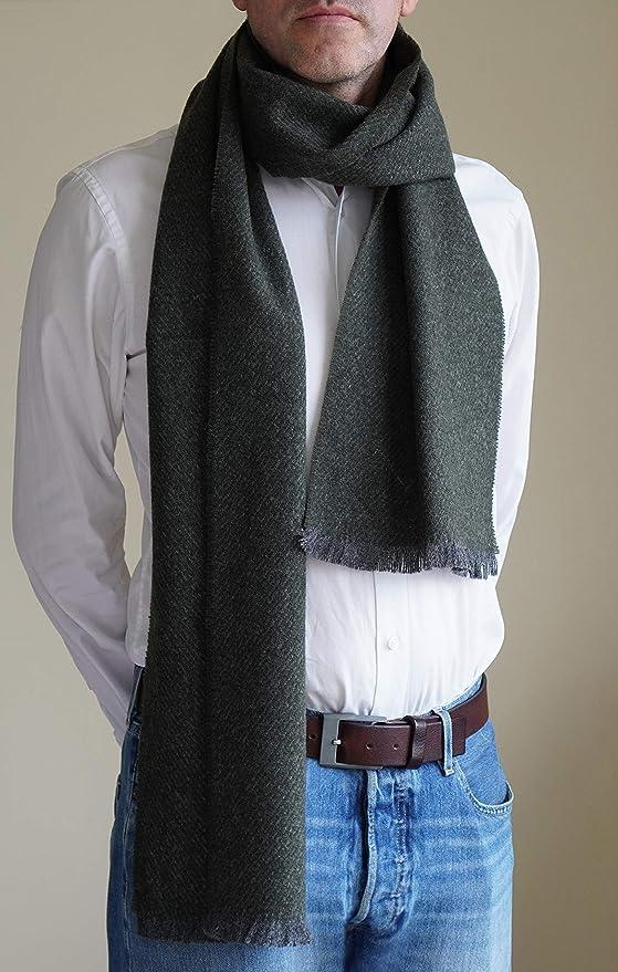 Borges /& Scott Bufanda de lana de oveja irlandesa 100/% lana irlandesa Hecha en Irlanda
