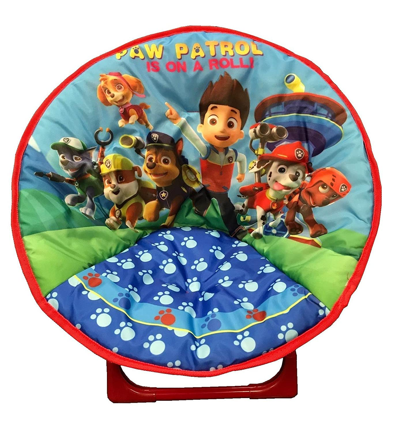 just4baby Kids Children Foldable Bedroom Play Room Moon Chair Moonchair Paw Patrol Design