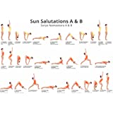 Large Easy To Read Yoga Poster Learn Sun Salutes A & B
