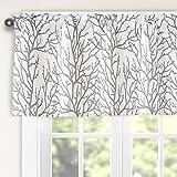 Tree Branch Botanical Pattern Valance for Windows Rod Pocket Window Curtain Valance for Living Room Bedroom Kitchen 52…