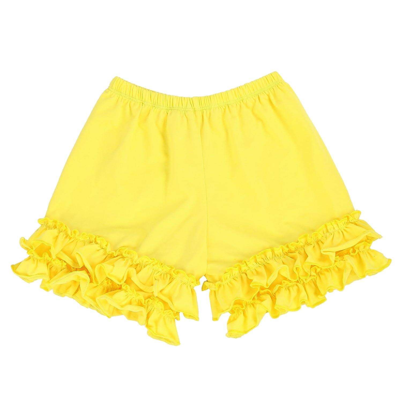 Kathy Double Ruffle Shorts LELEFORKIDS 2T-7//8 Toddlers and Girls