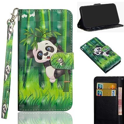 sinogoods para Alcatel 3X/5058Y/5058i Funda, Cuero De La PU Magnético Capirotazo Billetera Apoyo Bumper Protector Cover Funda Carcasa Case - Panda de ...