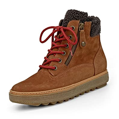 c1774fb56b0b7 Paul Green 9175-001 Women's Boots Made of Finest Nubuck Leather Warming  Textile Lining Brown