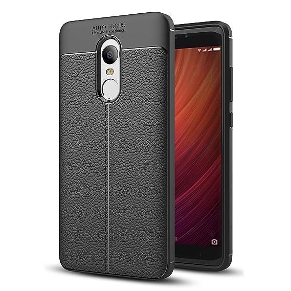 buy online 3df6e 8b403 Xiaomi Redmi Note 4 Case, Redmi Note 4X Faux Leather Case, Soft Case  Anti-Slip TPU Cover for 5.5'' Xiaomi Redmi Note 4, Redmi Note 4X [Not for  5.0'' ...