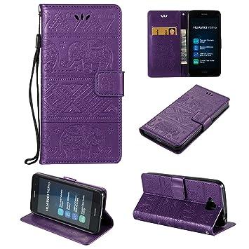 Guran® Funda de Cuero PU para Huawei Y6 Pro Smartphone Función de ...
