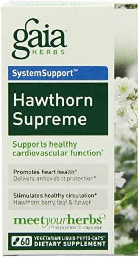 Gaia Herbs – Hawthorn Supreme 60 cap Pack of 4