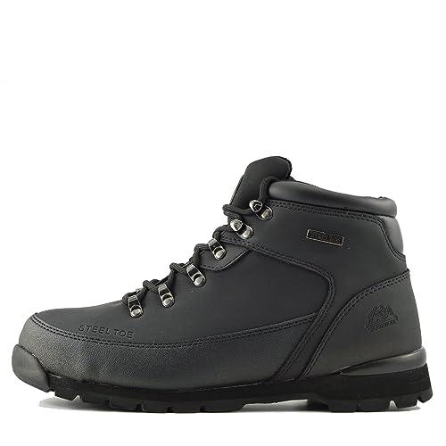 Mens Botas de Seguridad para Hombres con Punta de Acero - Reino Unido 13/UE 47, Negro: Amazon.es: Zapatos y complementos