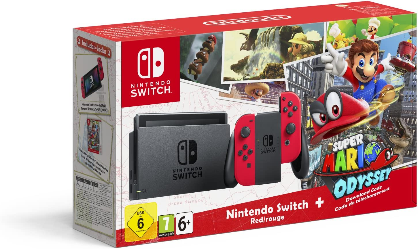 Nintendo Switch - Consola + Super Mario Odyssey Bundle (Código Descarga): Amazon.es: Videojuegos