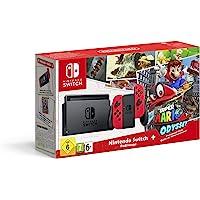Console Nintendo Switch + 1 paire de Joy-Con rouge + Super Mario Odyssey - Edition Limitée