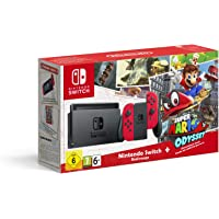 Nintendo Switch - Consola + Super Mario Odyssey Bundle (Código Descarga)