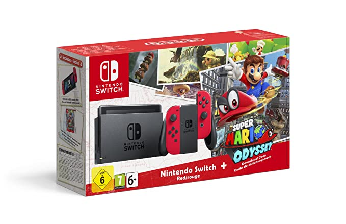 Nintendo Switch Consola Super Mario Odyssey Bundle Codigo