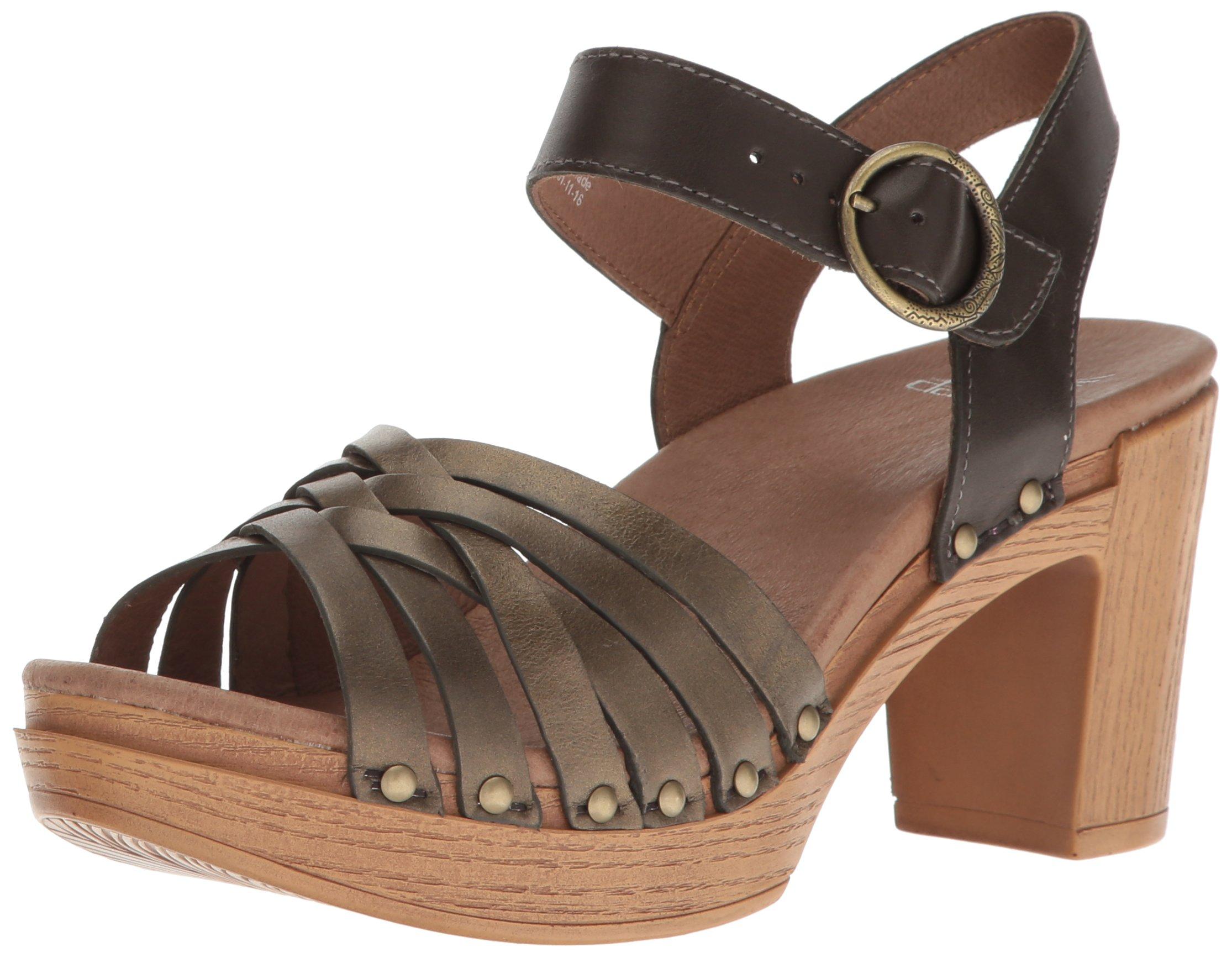 Dansko Women's Dawson Heeled Sandal, Old Gold/Metallic, 37 EU/6.5-7 M US